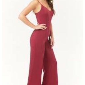 forever 21  jumpsuit/Cami sp berry